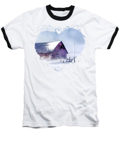 Anderson Dock Winter Storm In Door County Baseball T-Shirt