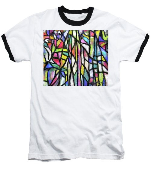 Abstract Forest Baseball T-Shirt