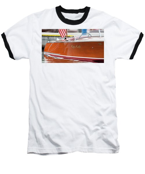 Antique Wooden Boat 1305 Baseball T-Shirt