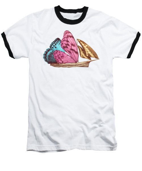 Butterfly Ship Baseball T-Shirt