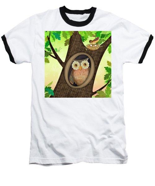 O Is For Owl Baseball T-Shirt