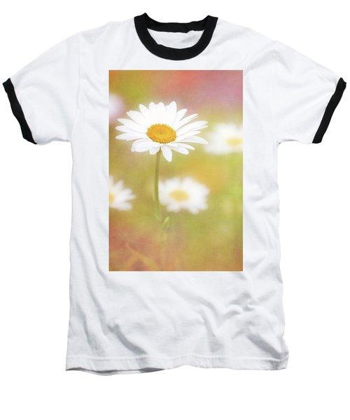 Delightful Daisy Portrait Baseball T-Shirt