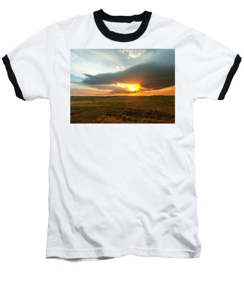 As The Sun Is Setting Baseball T-Shirt