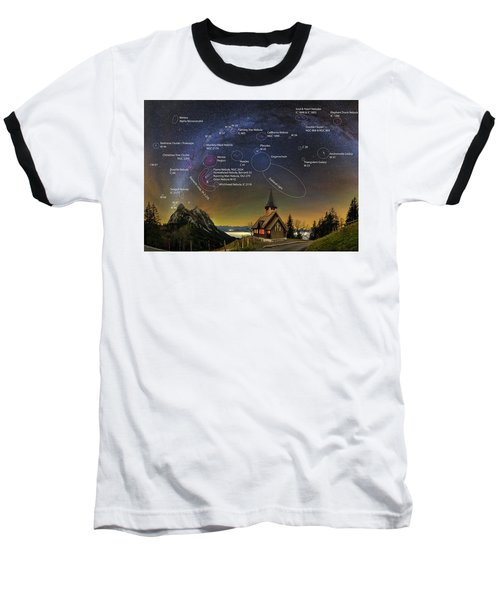 Astrophotography Winter Wonderland Baseball T-Shirt