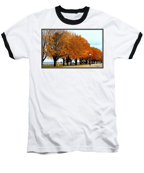 Autumn Leaves In Menominee Michigan Baseball T-Shirt