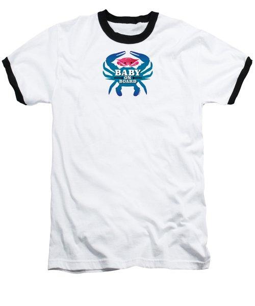 Baby On Board, Pink Crab Baseball T-Shirt