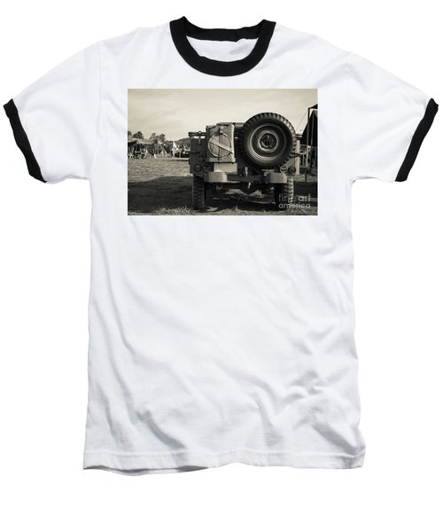 Back Of A World War II Era Military Us Army Jeep Baseball T-Shirt
