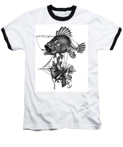 Bass Airship Baseball T-Shirt