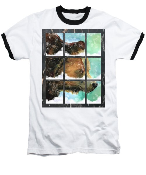 Bear Outside My Window Baseball T-Shirt