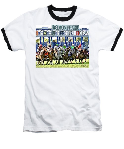 Belmont Park Starting Gate 1 Baseball T-Shirt