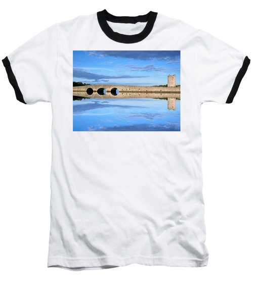 Belvelly Castle Reflection Baseball T-Shirt