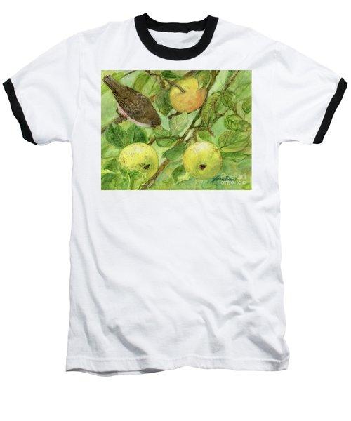 Bird And Golden Apples Baseball T-Shirt