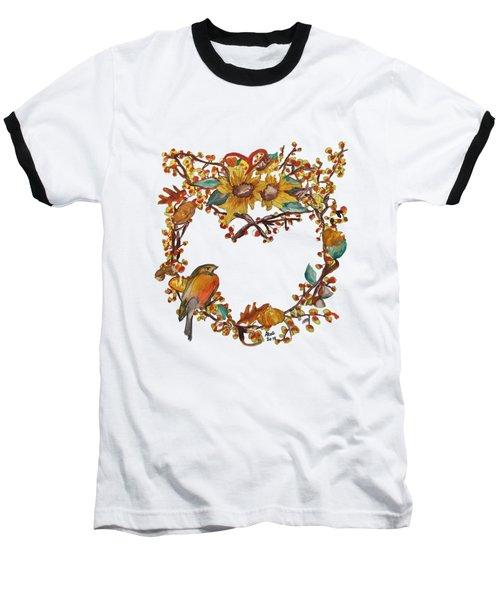 Bittersweet Wreath Baseball T-Shirt