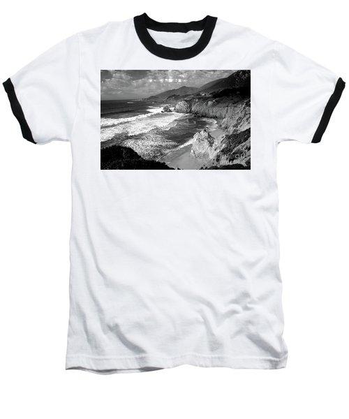 Black And White Big Sur Baseball T-Shirt