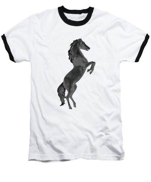 Black Horse Baseball T-Shirt