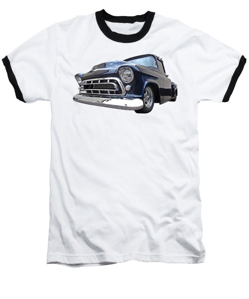Blue 57 Stepside Chevy Baseball T-Shirt