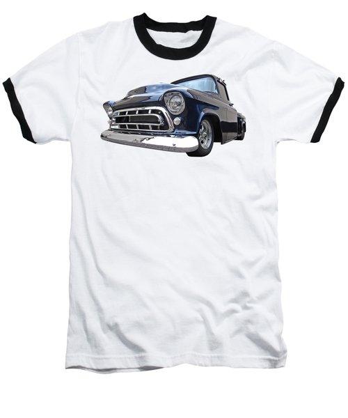 Blue 57 Stepside Chevy Baseball T-Shirt