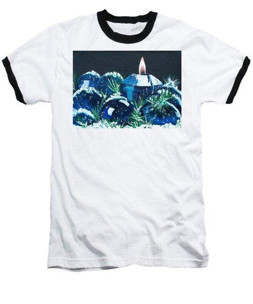 Blue Christmas  Baseball T-Shirt