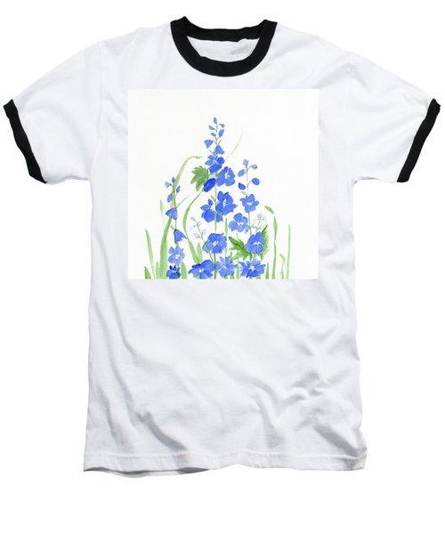 Blue Larkspur  Baseball T-Shirt