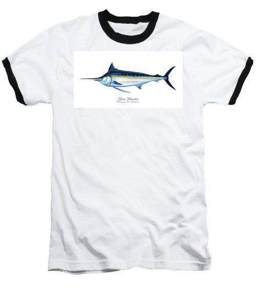 Blue Marlin Baseball T-Shirt