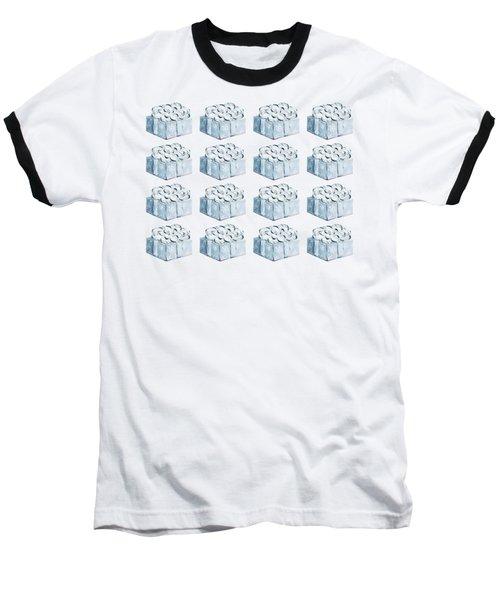Blue Present Pattern Baseball T-Shirt