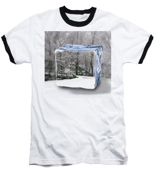 Blue Water Ice Cube Baseball T-Shirt
