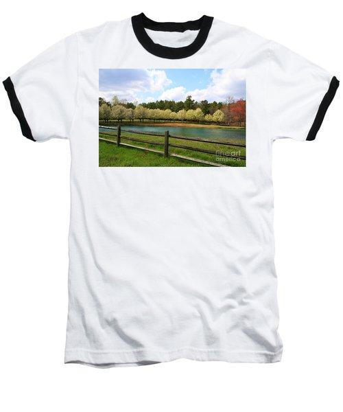 Bradford Pear Trees Blooming Baseball T-Shirt