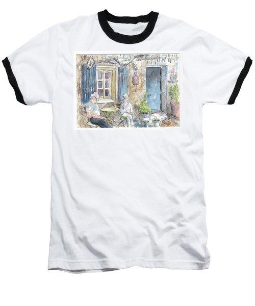 Breakfast Al Fresco Baseball T-Shirt