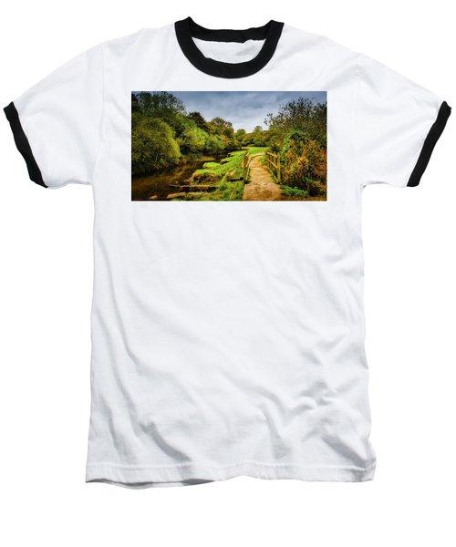 Bridge With Falling Colors Baseball T-Shirt
