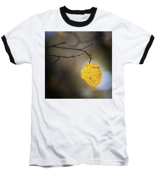 Baseball T-Shirt featuring the photograph Bright Fall Leaf 7 by Michael Arend