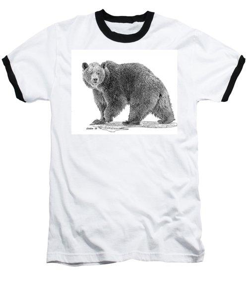 Brown Black And White Baseball T-Shirt