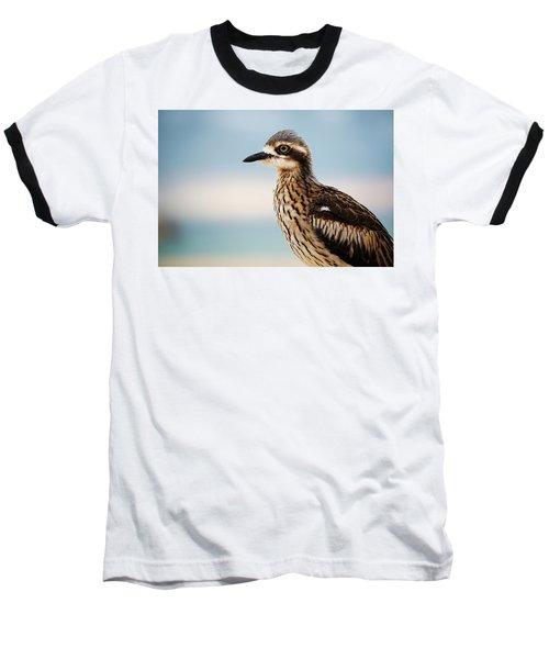 Bush Stone-curlew Resting On The Beach. Baseball T-Shirt