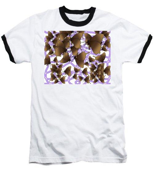 Butterfly Patterns 12 Baseball T-Shirt