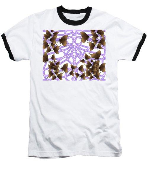 Butterfly Patterns 14 Baseball T-Shirt