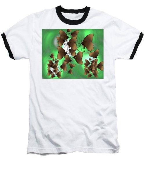 Butterfly Patterns 15 Baseball T-Shirt