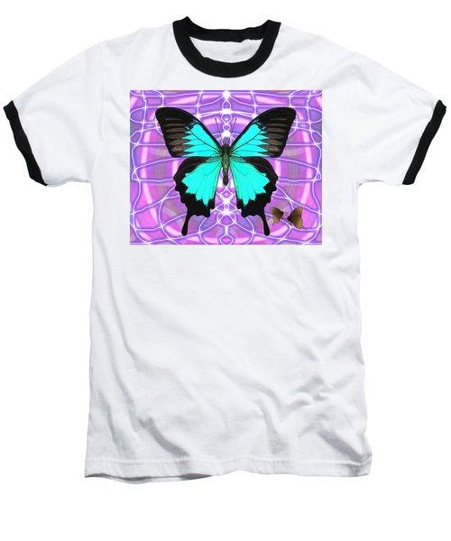 Butterfly Patterns 19 Baseball T-Shirt