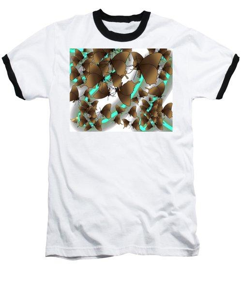 Butterfly Patterns 2 Baseball T-Shirt