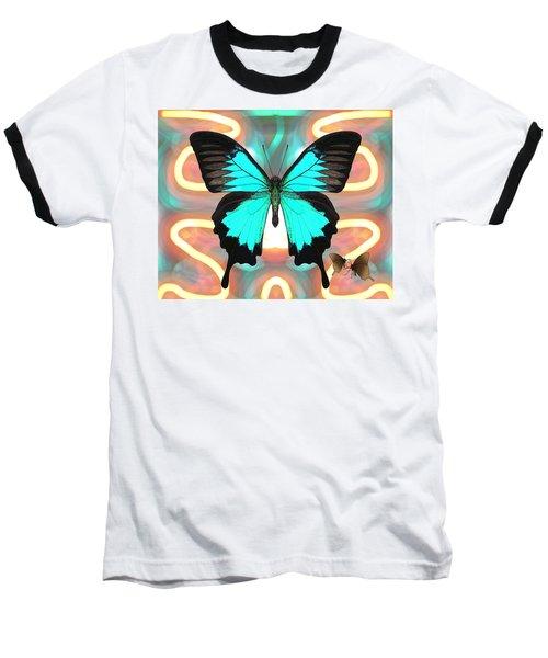 Butterfly Patterns 21 Baseball T-Shirt