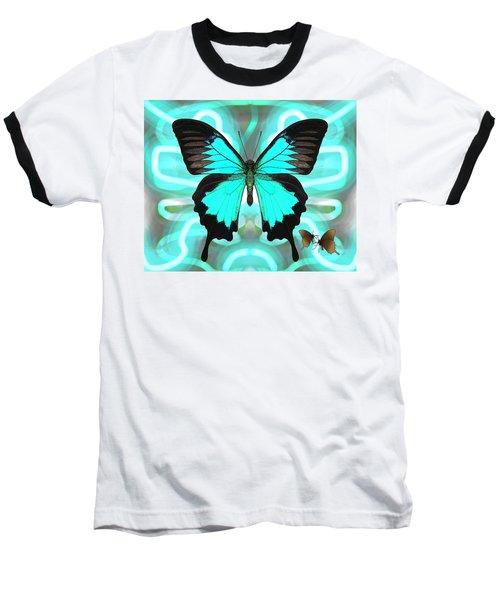 Butterfly Patterns 22 Baseball T-Shirt
