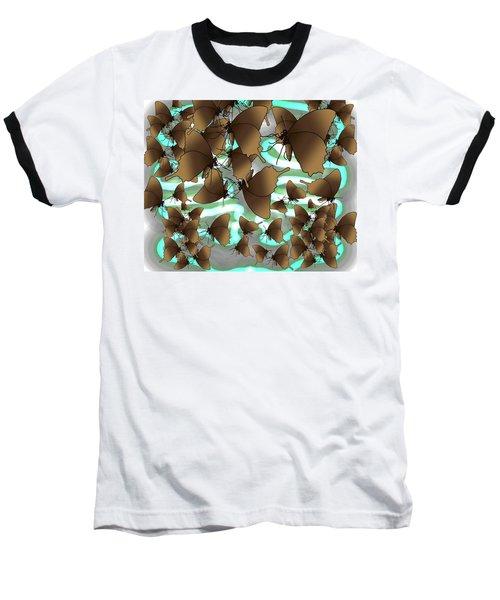 Butterfly Patterns 4 Baseball T-Shirt