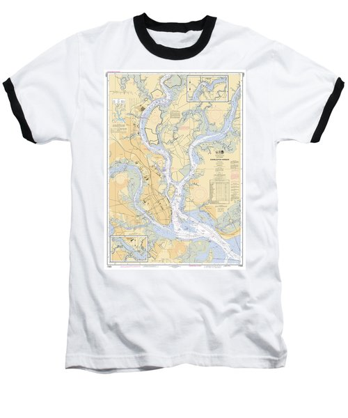 Charleston Harbor, Noaa Chart 11524 Baseball T-Shirt