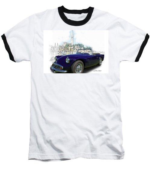 Classic British Sports Car In Croatia Baseball T-Shirt