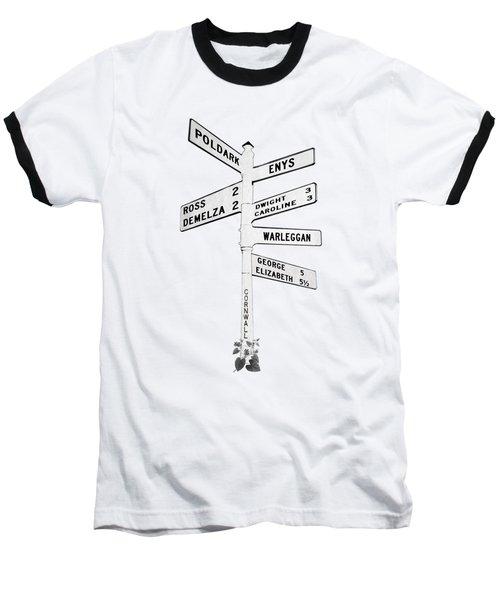 Cornish Signpost Poldark Baseball T-Shirt