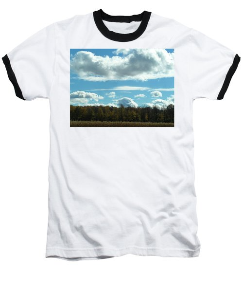 Country Autumn Curves 8 Baseball T-Shirt