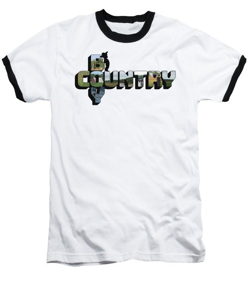 Country Boy Big Letter Baseball T-Shirt