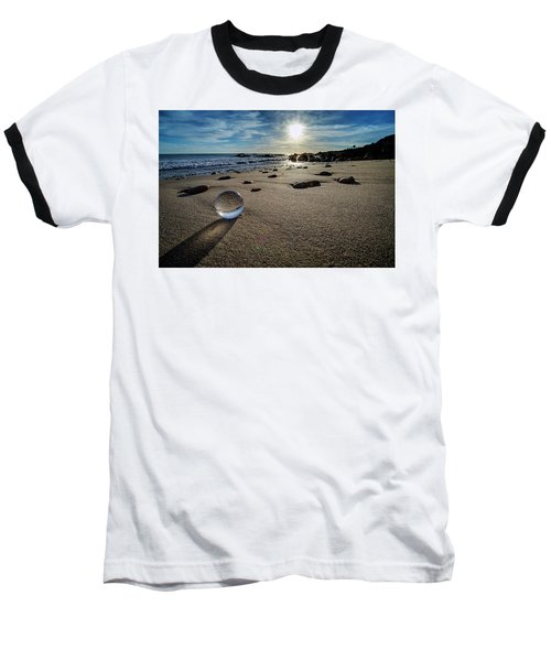 Crystal Ball Sunset Baseball T-Shirt