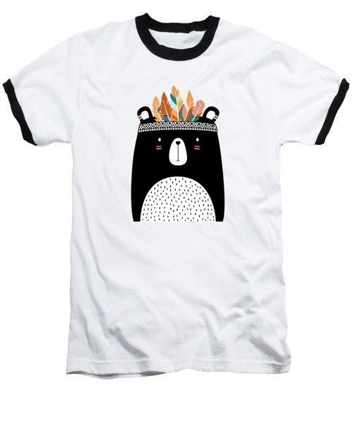 Cute Tribal Bear - Boho Chic Ethnic Nursery Art Poster Print Baseball T-Shirt