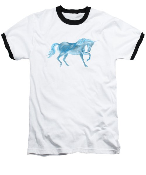 Dancing Blue Unicorn Baseball T-Shirt