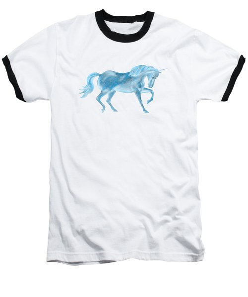 Dancing Blue Unicorn Baseball T-Shirt