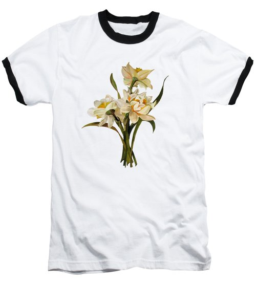 Double Narcissi Spring Flower Bouquet  Baseball T-Shirt